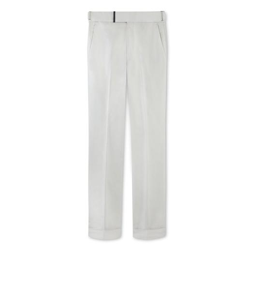 GREY COTTON ATTICUS TROUSERS