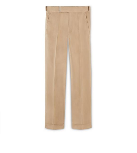 CAMEL COTTON ATTICUS TROUSERS A fullsize