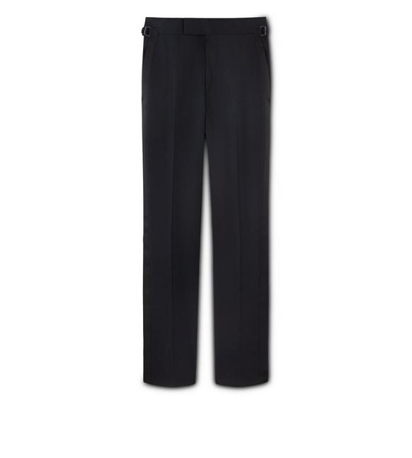 BLACK MOHAIR O'CONNOR EVENING TROUSERS A fullsize