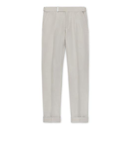 MINT SILK GROSGRAIN ATTICUS TROUSERS
