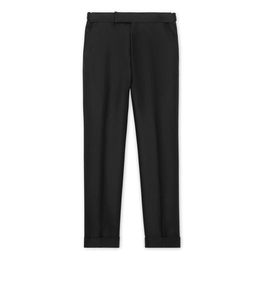 BLACK MOHAIR SILK ATTICUS TROUSERS