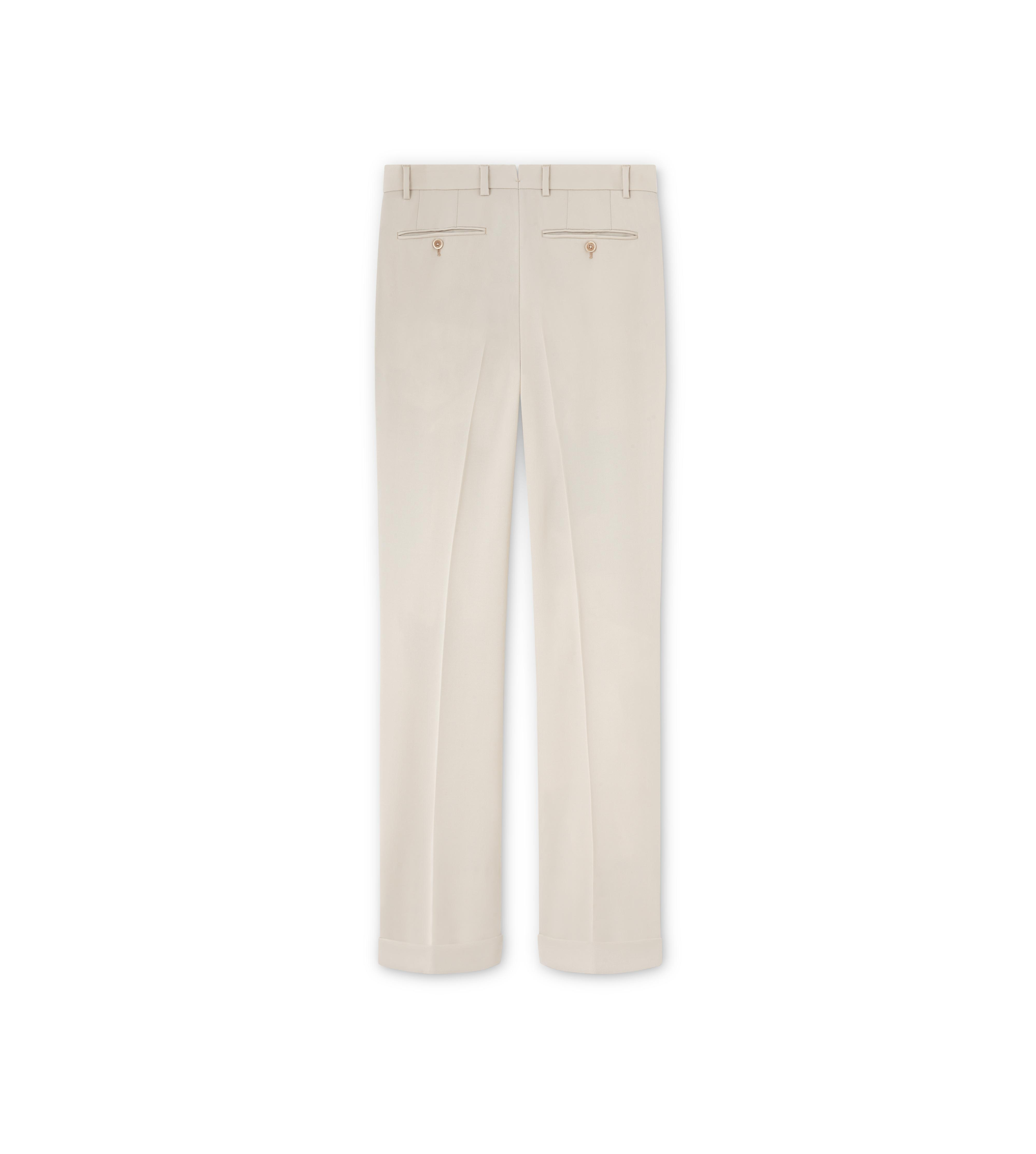 WOOL GABARDINE SHELTON PLEATED TROUSERS B thumbnail