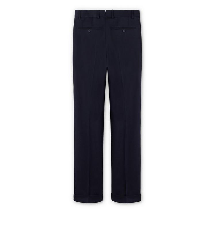 WOOL GABARDINE SHELTON PLEATED TROUSERS B fullsize