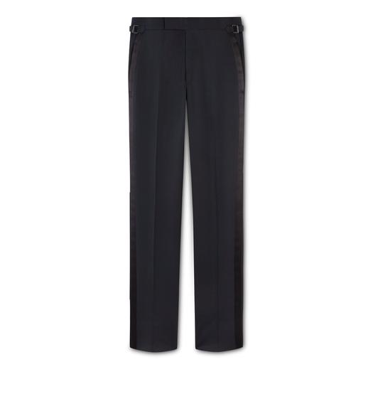 BLACK MOHAIR O'CONNOR EVENING TROUSERS
