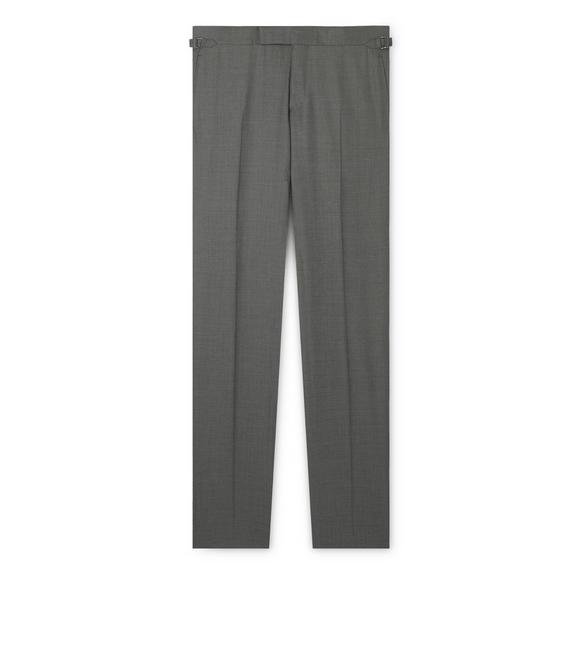 GREY TWILL TAILORED CLASSIC PANTS A fullsize