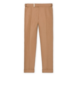 9210818369 BEIGE LINEN SILK SHELTON TROUSERS