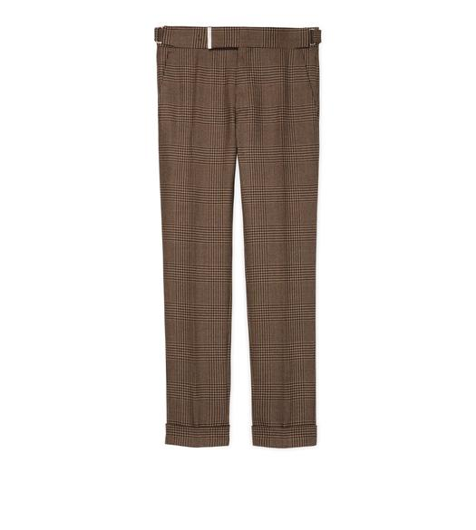 BROWN PRINCE OF WALES SHELTON TROUSERS