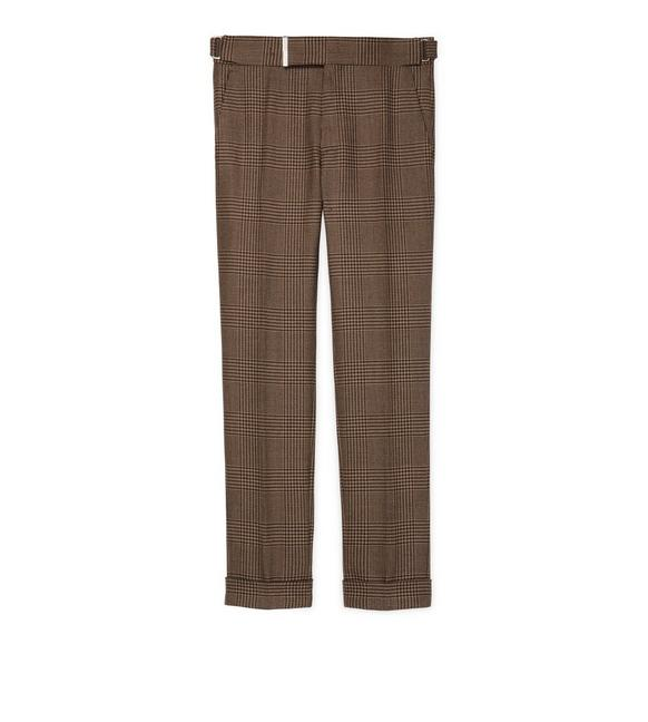BROWN PRINCE OF WALES SHELTON TROUSERS A fullsize