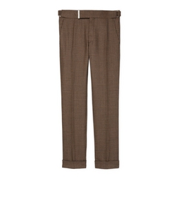 9210815552 BROWN PRINCE OF WALES SHELTON TROUSERS