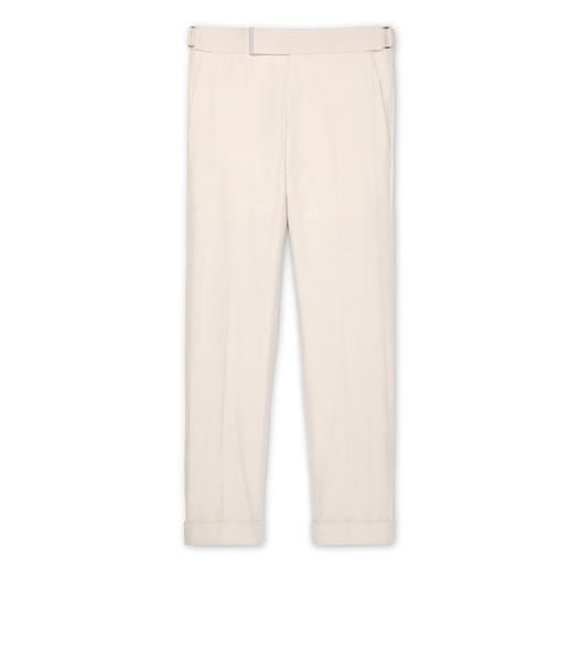 CREAM SILK ATTICUS TROUSERS