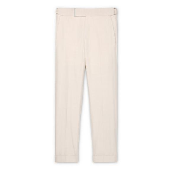 CREAM SILK ATTICUS TROUSERS A fullsize