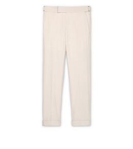 9210817899 CREAM SILK ATTICUS TROUSERS