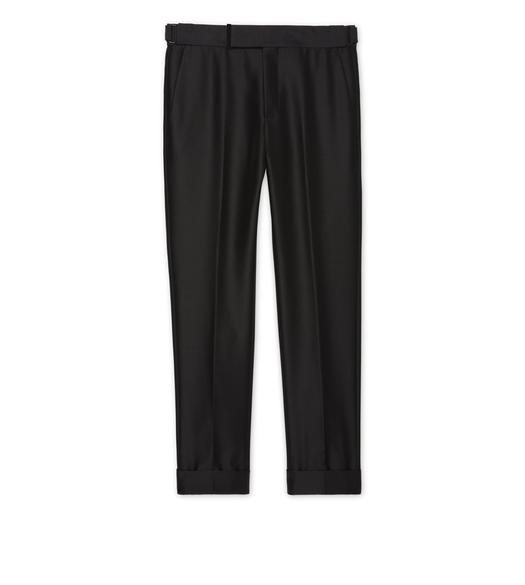BLACK MOHAIR ATTICUS TROUSERS