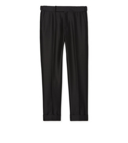9210817382 BLACK MOHAIR ATTICUS TROUSERS