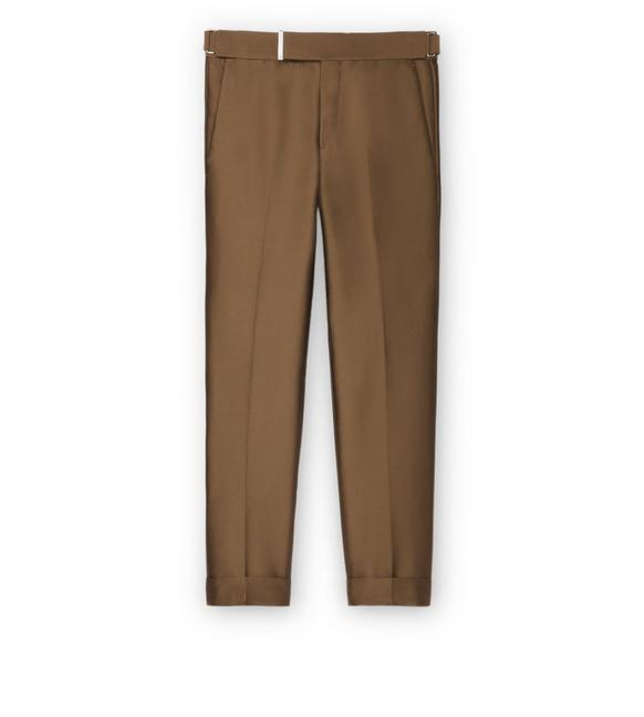 BROWN IRIDESCENT TWILL ATTICUS TROUSERS A fullsize