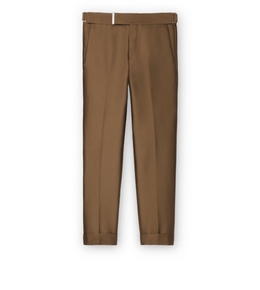 9210816975 BROWN IRIDESCENT TWILL ATTICUS TROUSERS