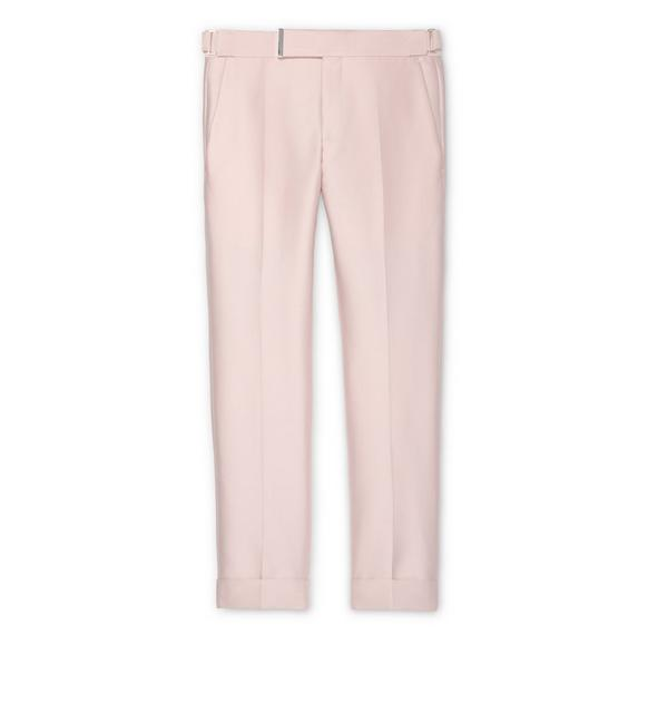 PINK IRIDESCENT TWILL ATTICUS TROUSERS A fullsize