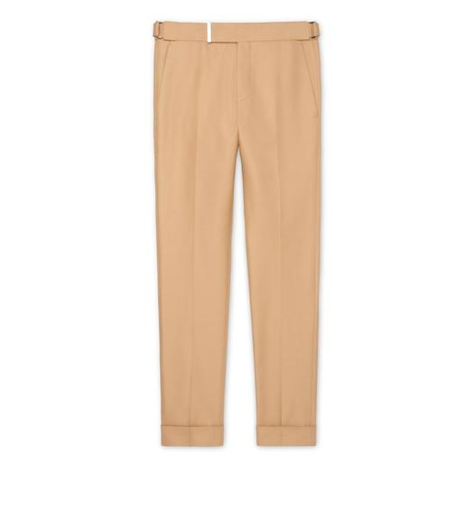DARK BEIGE IRIDESCENT TWILL ATTICUS TROUSERS