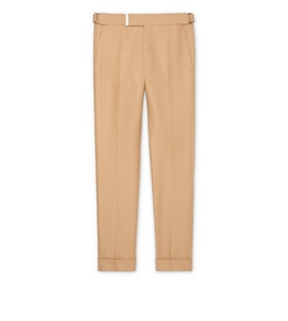9210819230 DARK BEIGE IRIDESCENT TWILL ATTICUS TROUSERS