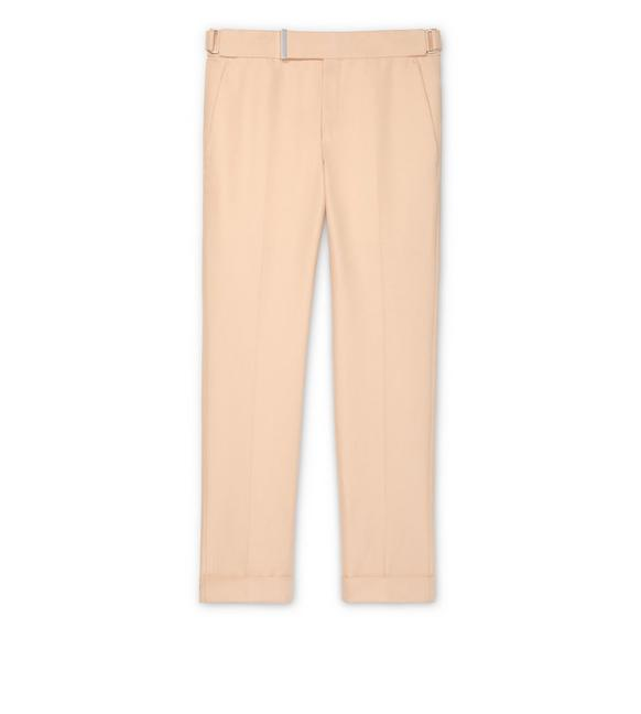 ORANGE IRIDESCENT TWILL ATTICUS TROUSERS A fullsize
