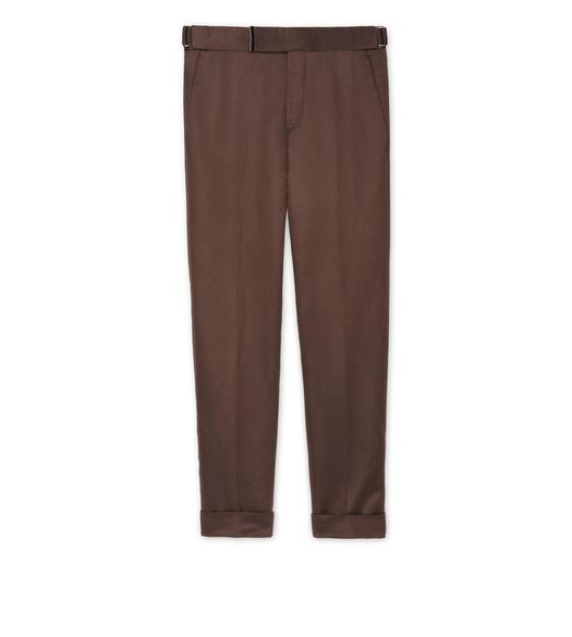 BROWN SATIN ATTICUS TROUSERS