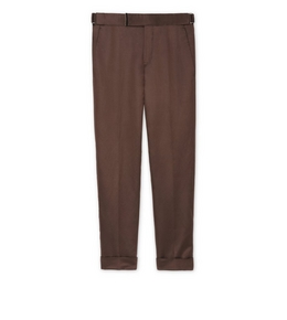 9210819241 BROWN SATIN ATTICUS TROUSERS