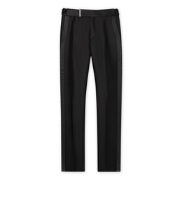 9210817551 BLACK MOHAIR ATTICUS TROUSERS