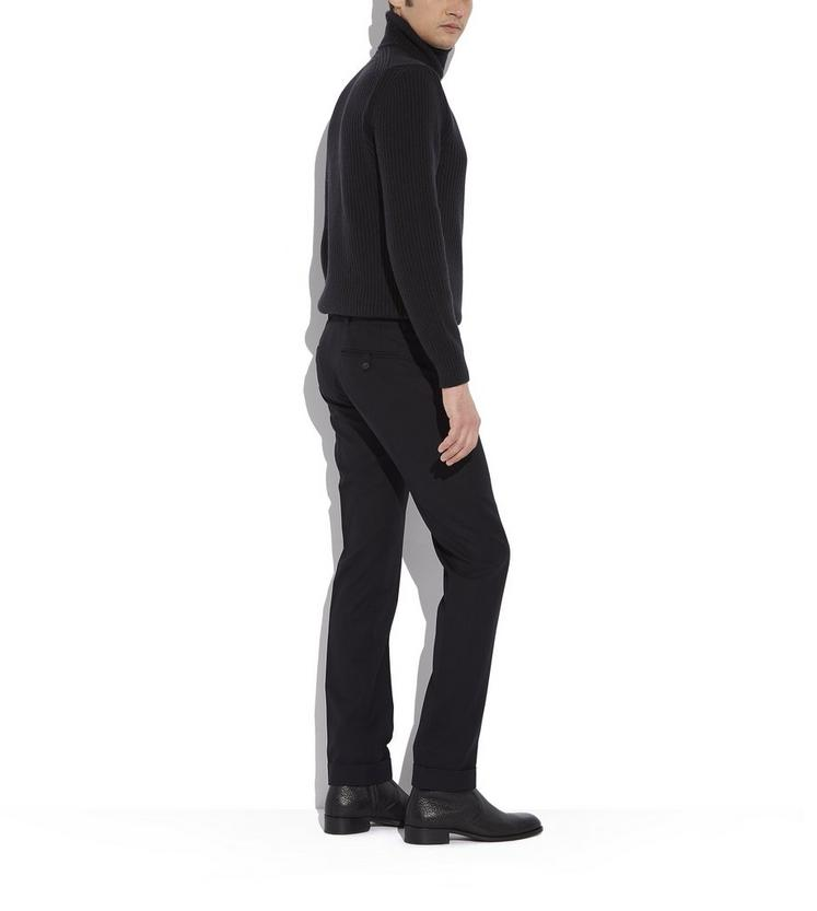 BLACK SLIM FIT TAILORED SPORT TROUSERS C fullsize