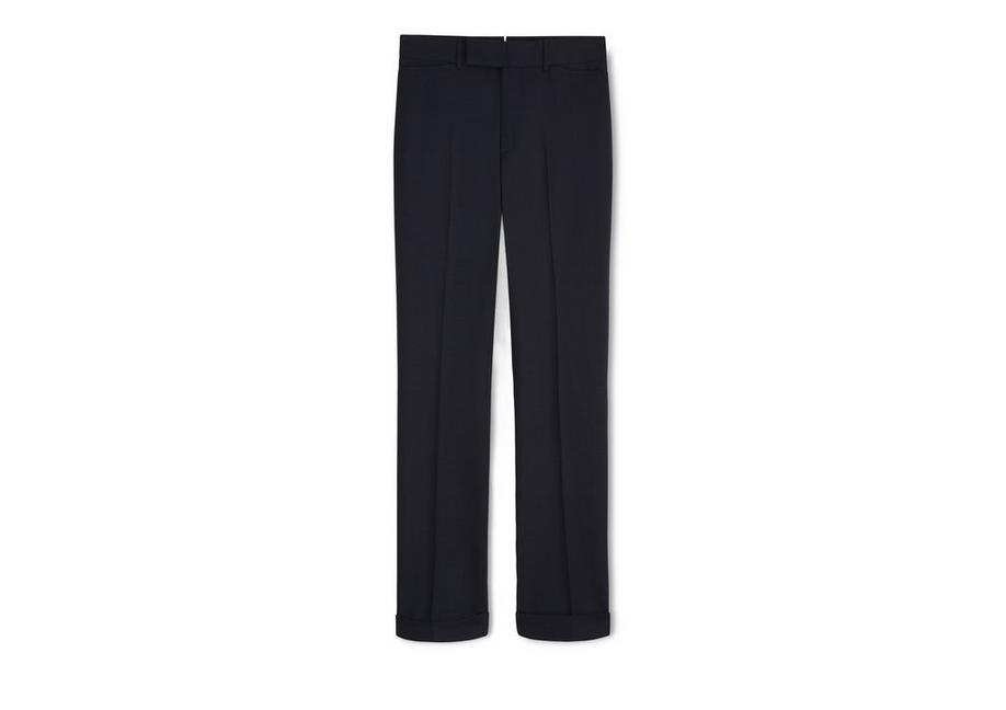 NAVY WOOL SPORT TROUSERS A fullsize