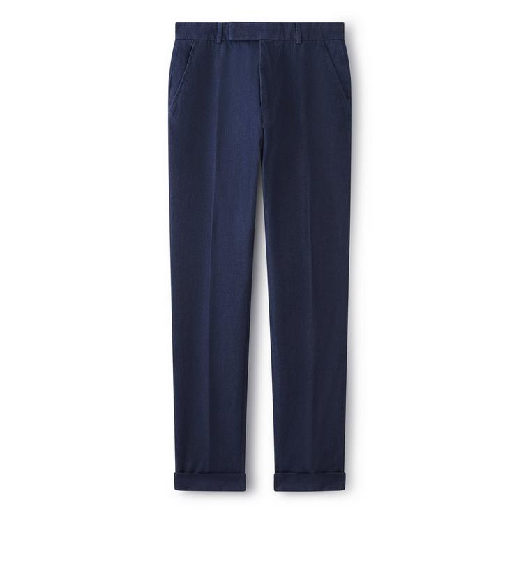 SHELTON DENIM TAILORED TROUSERS A fullsize
