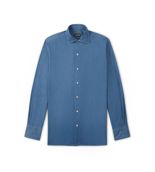 FLUID DENIM LEISURE SHIRT