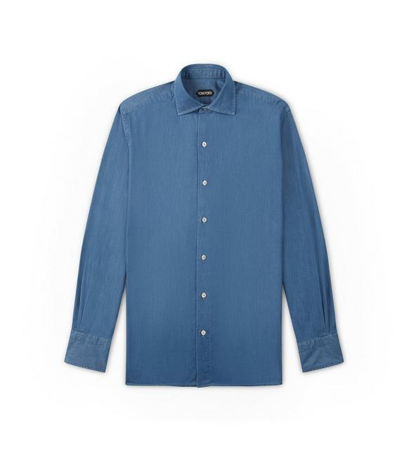 FLUID DENIM LEISURE SHIRT A fullsize