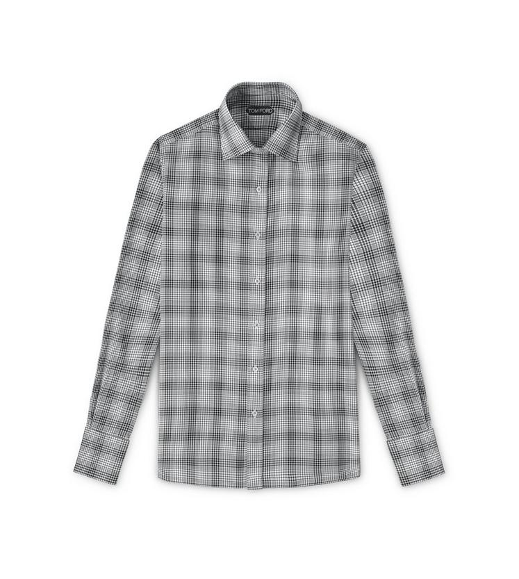 CLASSIC FIT HIGH COLLAR STAND SHIRT A fullsize