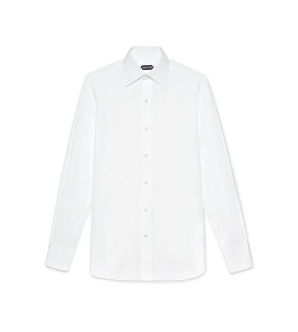 Poplin Classic Fit Barrel Cuff Shirt by Tom Ford