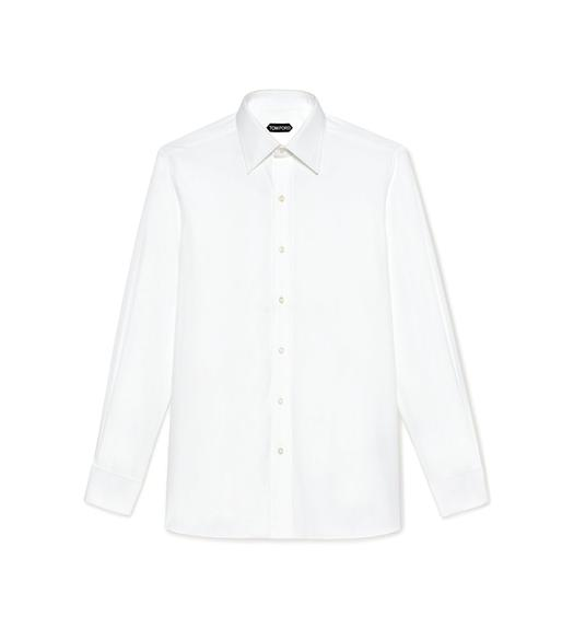 POPLIN CLASSIC FIT FRENCH CUFF SHIRT