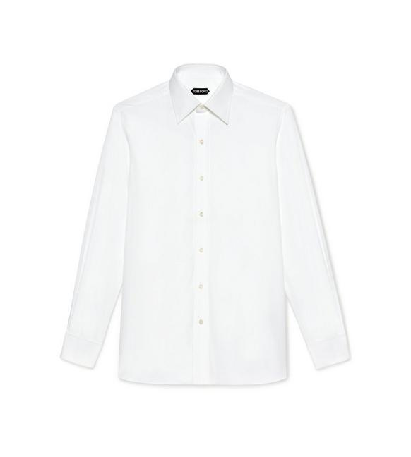 POPLIN CLASSIC FIT FRENCH CUFF SHIRT A fullsize