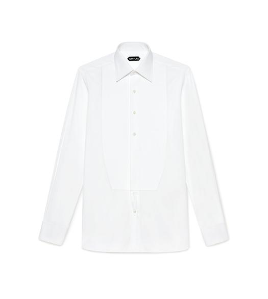 POPLIN CLASSIC FIT FRENCH CUFF EVENING SHIRT