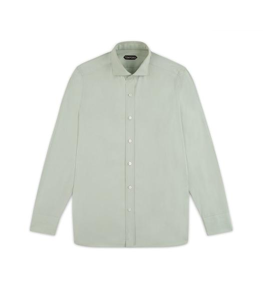 GREEN FINE POPLIN CLASSIC FIT SHIRT