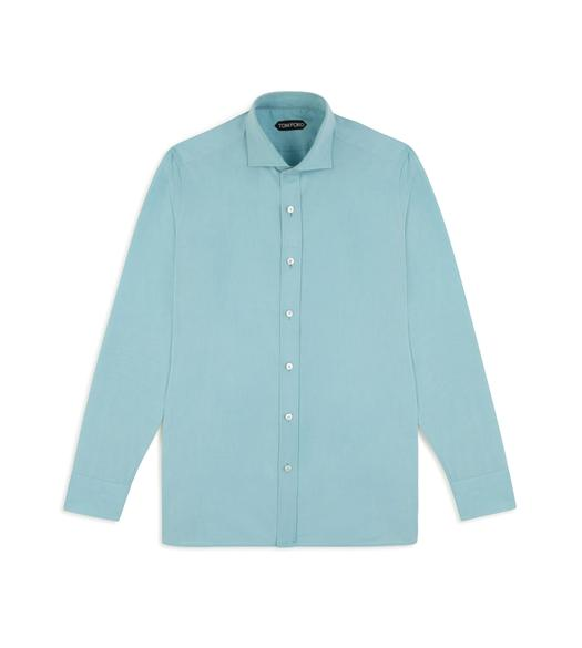 TURQUOISE PINPOINT CLASSIC FIT SHIRT