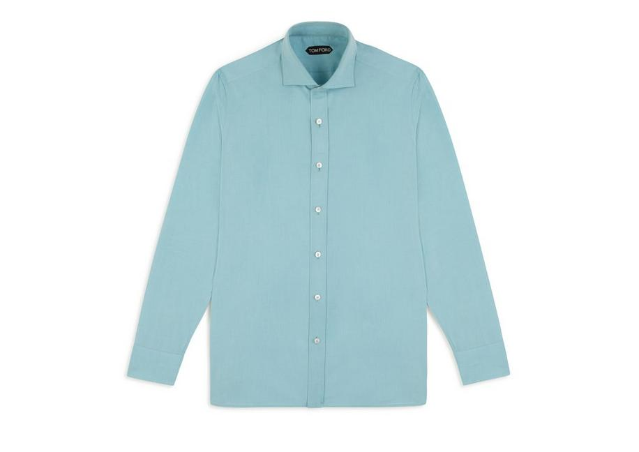 TURQUOISE PINPOINT CLASSIC FIT SHIRT A fullsize