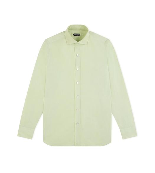 GREEN PINPOINT CLASSIC FIT SHIRT