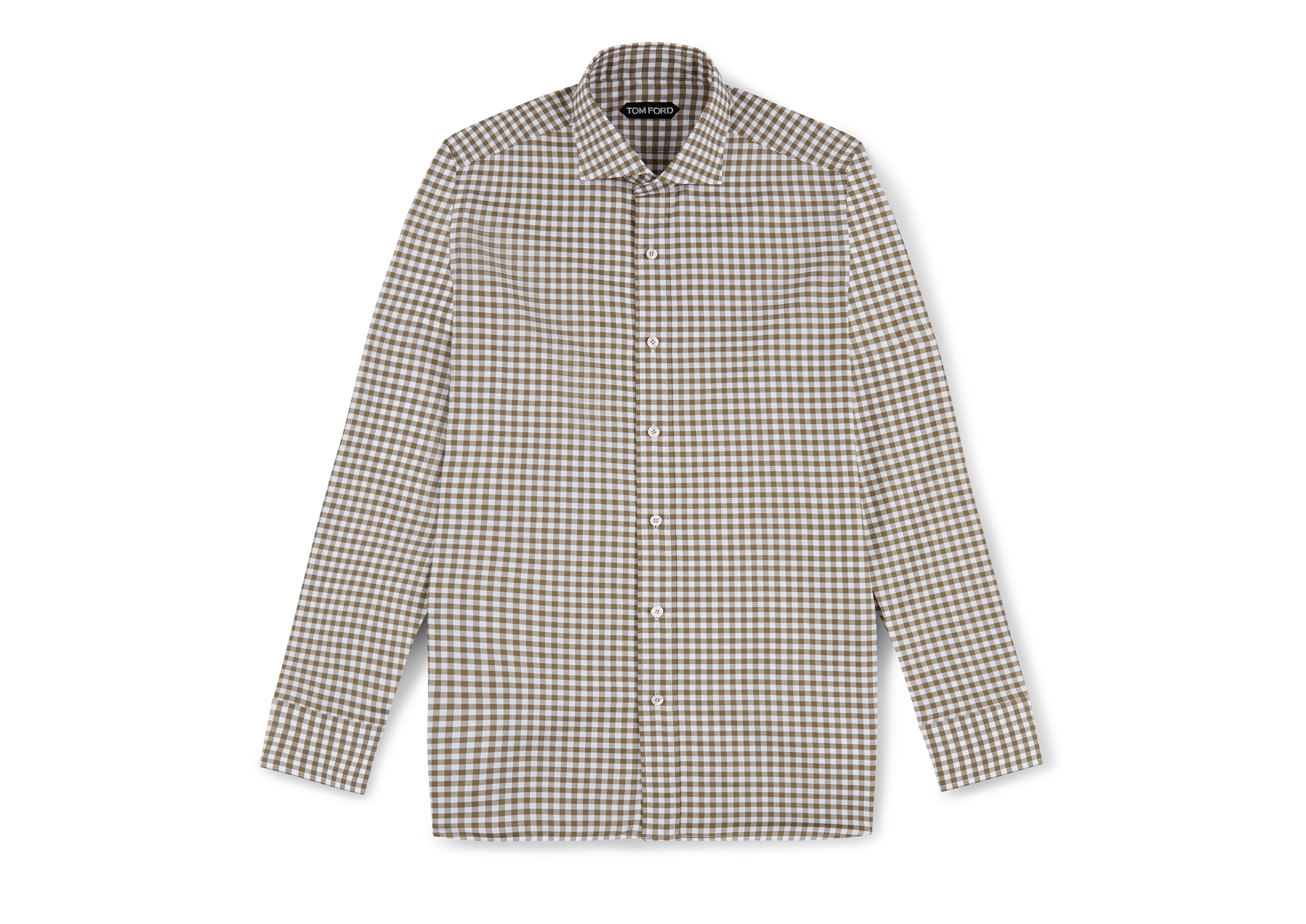 GINGHAM CLASSIC FIT SHIRT A thumbnail