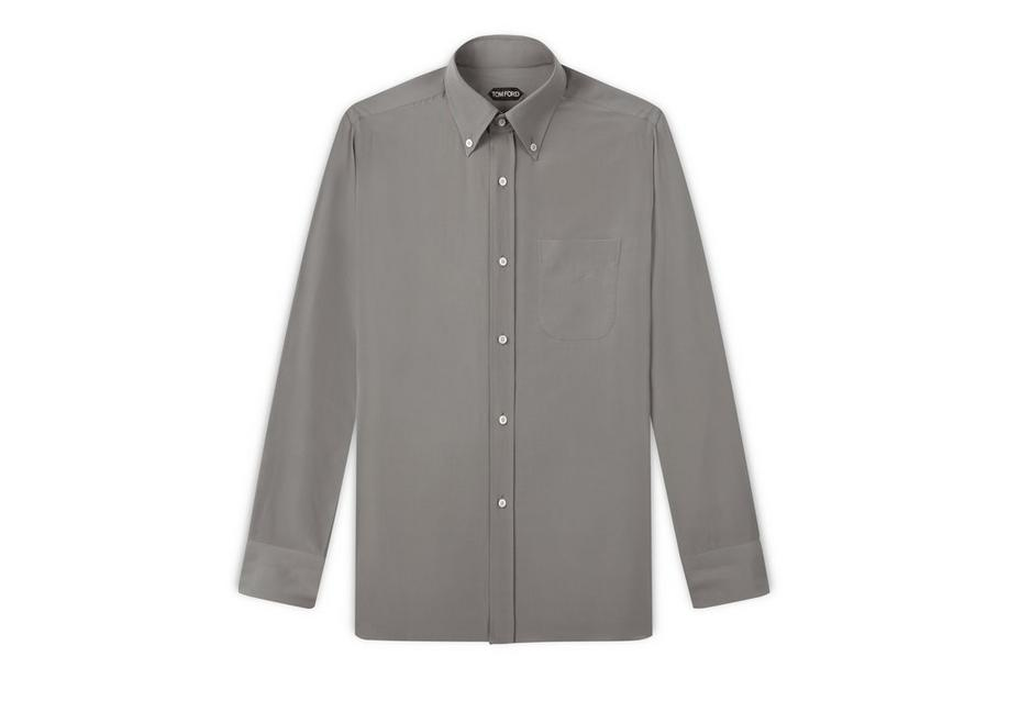 WASHED CREPE DE CHINE SPORT SHIRT A fullsize