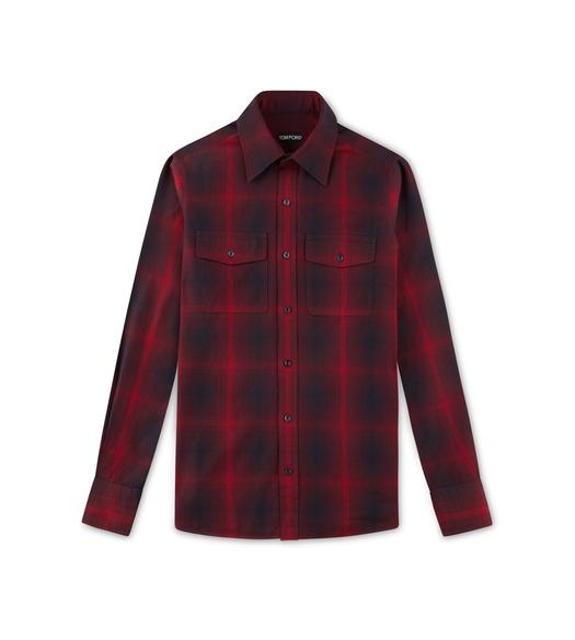 RED CHECK MILITARY SHIRT