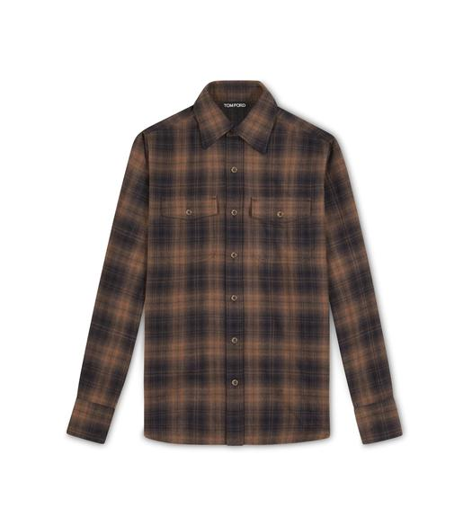 SUBTLE CHECK MILITARY SHIRT
