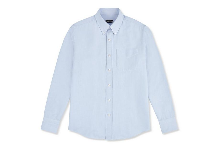 BLUE WASHED OXFORD SHIRT A fullsize