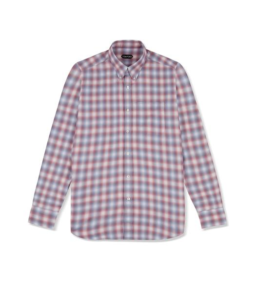 DEGREDE CHECK CLASSIC FIT SHIRT