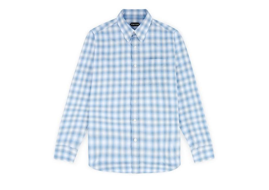 DEGREDE CHECK CLASSIC FIT SHIRT A fullsize