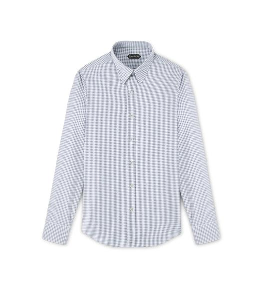 POINT COLLAR BUTTON DOWN TAILORED FIT SHIRT