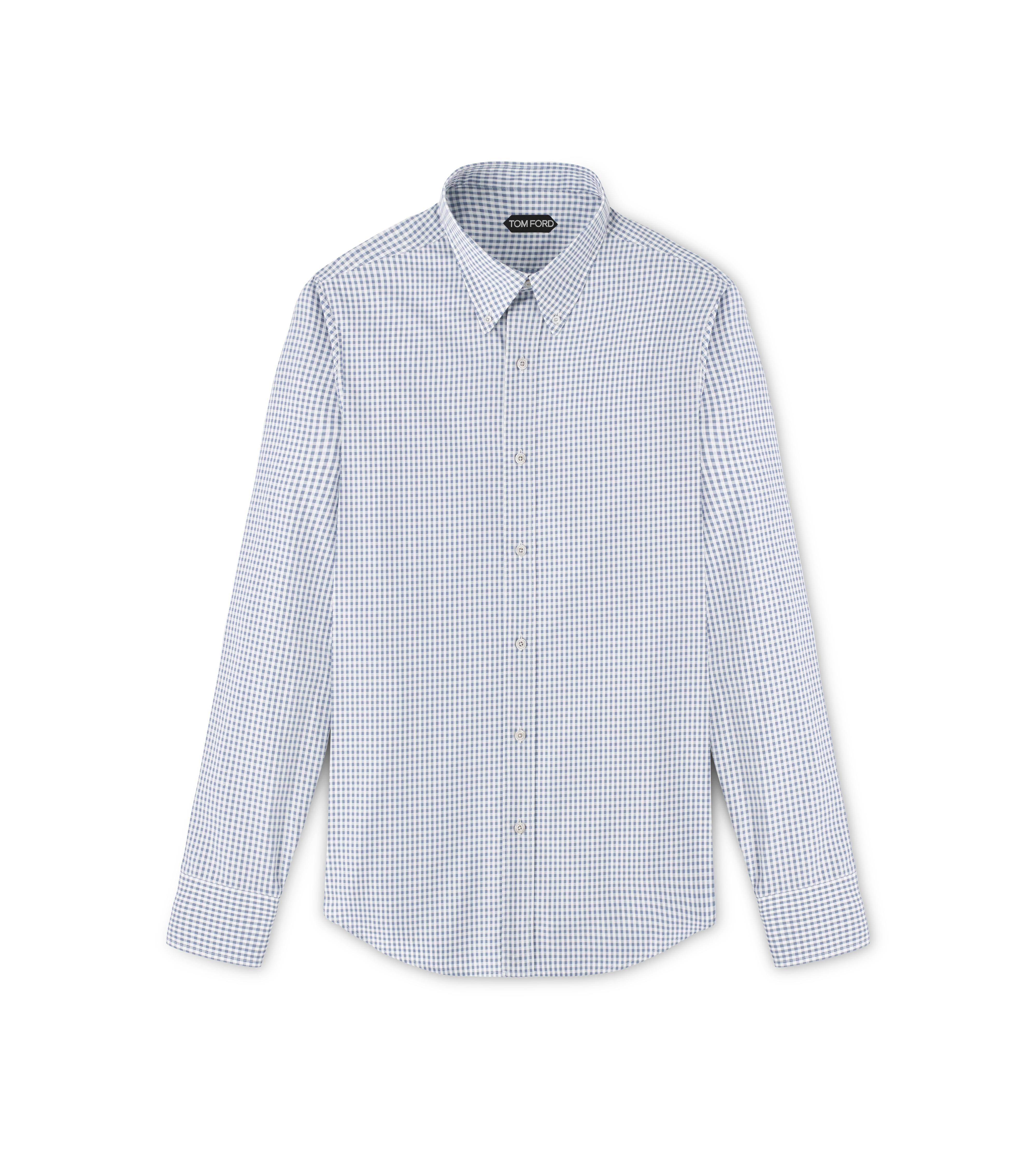 POINT COLLAR BUTTON DOWN TAILORED FIT SHIRT A thumbnail